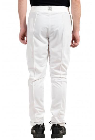Roberto Cavalli Gym Men's White Decorated Fleece Track Sweat Pants: Picture 2
