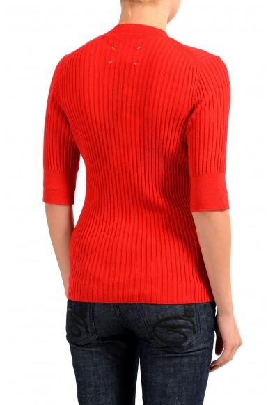 Maison Margiela 4 100% Wool Red Turtleneck Women's Sweater: Picture 2