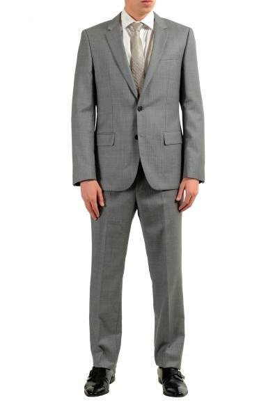 "Hugo Boss ""Halsey2/Merill2"" Men's 100% Wool Gray Striped Two Button Suit"