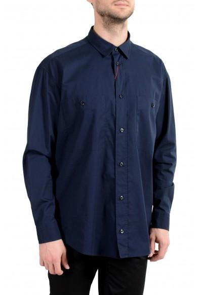 """Hugo Boss """"Ennon"""" Men's Navy Blue Long Sleeve Casual Shirt : Picture 2"""
