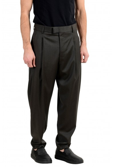 """Hugo Boss """"Harlyd"""" Men's 100% Wool Gray Pleated Dress Pants: Picture 2"""