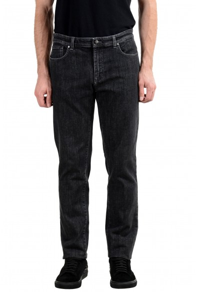 Versace Collection Men's Dark Gray Stretch Classic Jeans