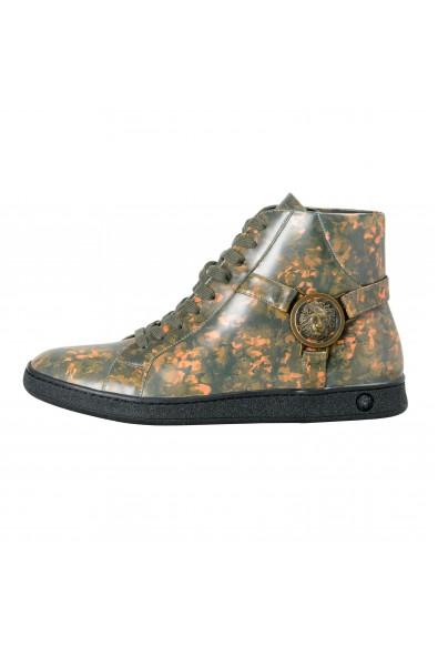 Versace Versus Men's Multi-Color Leather Hi Top Fashion Sneakers Shoes: Picture 2