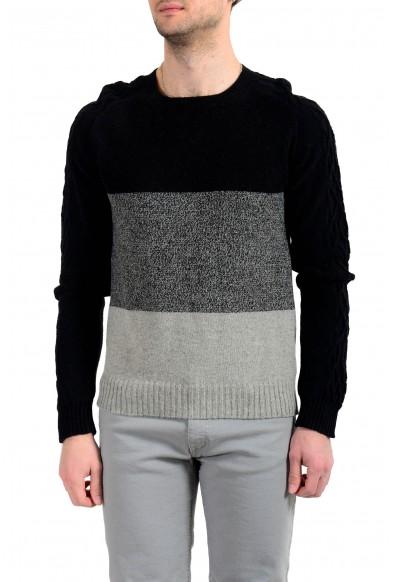 Just Cavalli Men's Multi-Color Alpaca Pullover Sweater