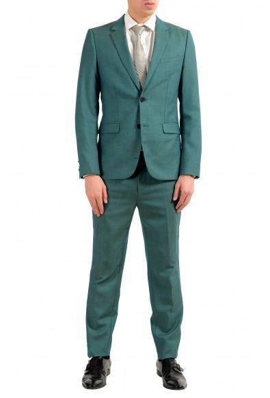 "Hugo Boss ""Astian/Hets"" Men's 100% Wool Green Two Button Suit"