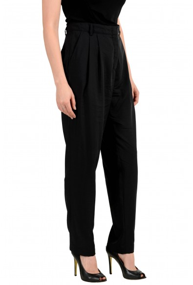 Versus By Versace Women's Black 100% Wool Pleated Pants: Picture 2