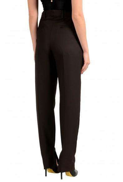 "Hugo Boss Women's ""STAR1_FS Dark Brown 100% Wool Casual Pants: Picture 2"