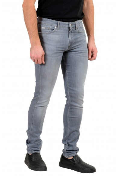 "Hugo Boss Men's ""Delaware3"" Slim Fit Gray Lightweight Stretch Jeans : Picture 2"