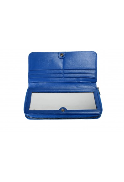 Maison Margiela Women's Blue Python Leather Zip Around Wallet: Picture 2