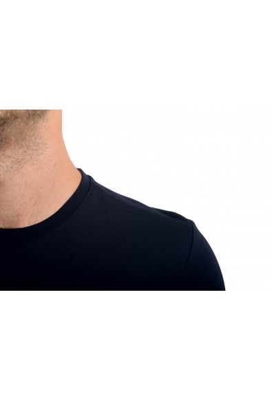 Roberto Cavalli Men's Navy Blue Graphic Print Crewneck T-Shirt: Picture 2