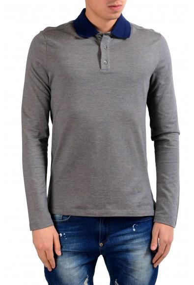 Malo Men's Gray Long Sleeve Polo Shirt