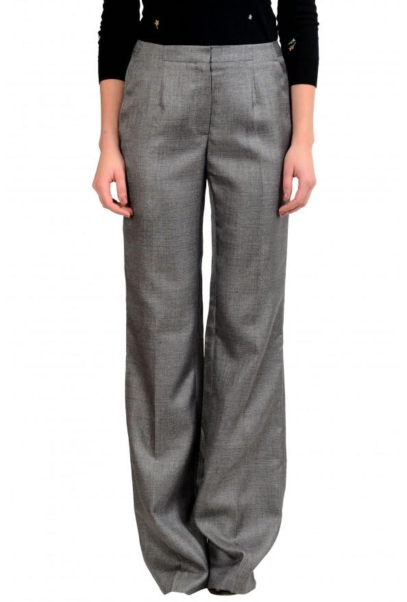Viktor & Rolf Women's Wool Gray Dress Pants