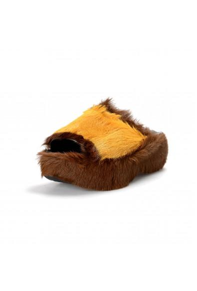Marni Women's Real Fur Leather Flip Flop Sandals Shoes