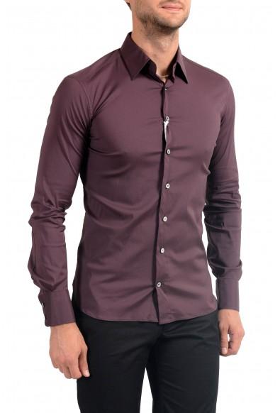 Malo Men's Dark Purple Stretch Long Sleeve Dress Shirt: Picture 2