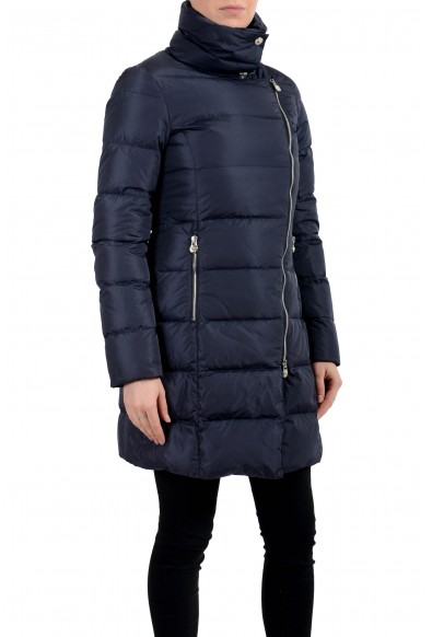 Versace Women's Blue Down Zip Up Parka Jacket Coat: Picture 2