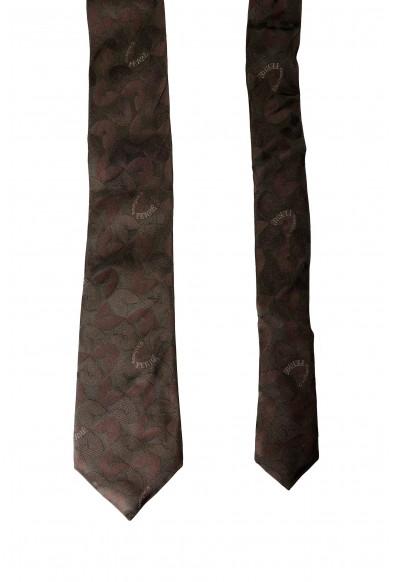Gianfranco Ferre Men's Green Logo Print 100% Silk Neck Tie: Picture 2
