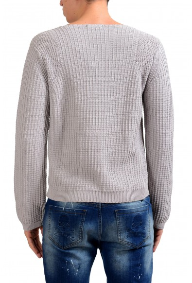 Malo Men's Boat Neck Gray Heavy Knitted Sweater: Picture 2