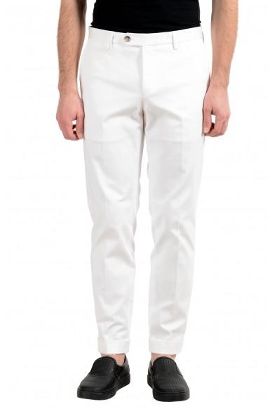"Hugo Boss ""T-Bryce"" Men's White Stretch Casual Pants"
