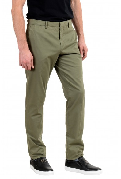 Burberry Men's Olive Green Stretch Casual Pants: Picture 2