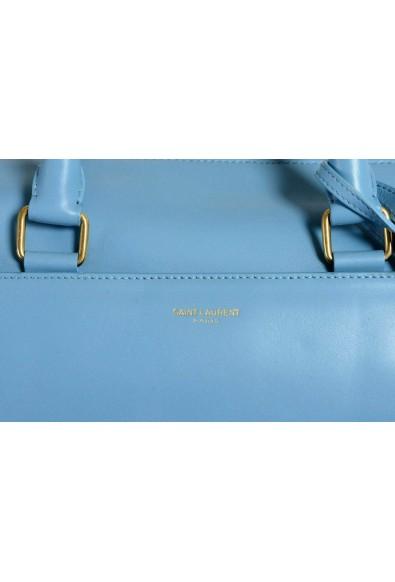 Saint Laurent Women's Blue Calfskin Leather Classic Duffle 12 Bag: Picture 2