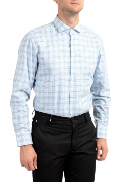 Hugo Boss Men's Mark US Sharp Fit Plaid Long Sleeve Dress Shirt: Picture 2