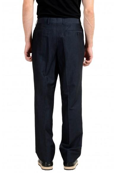 John Varvatos Men's Linen Wool Off Black Casual Pants: Picture 2