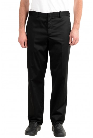 Versace Collection Men's Black Stretch Casual Pants