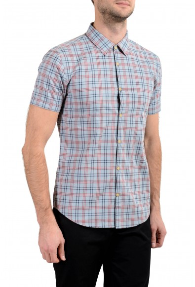 John Varvatos Multi-Color Checkered Short Sleeve Men's Casual Shirt: Picture 2