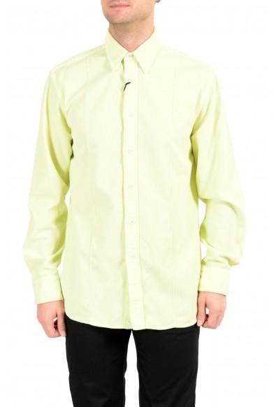 Malo Men's Lime Green Corduroy Long Sleeve Casual Shirt
