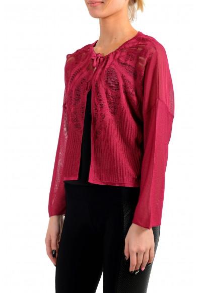 John Galliano Women's Red Bolero Cardigan Knitted Sweater : Picture 2