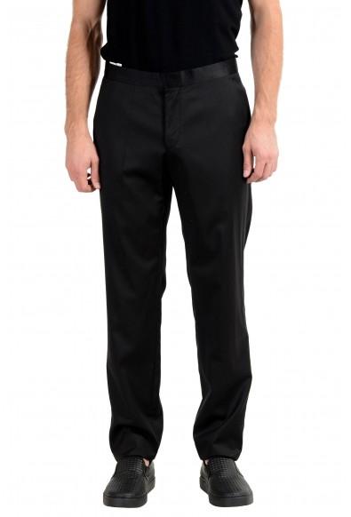 "Hugo Boss ""Reysen/Weever"" Men's Wool Mohair Black Dress Pants"