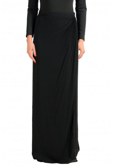 Maison Margiela 4 Black Women's Wrapped Maxi Skirt