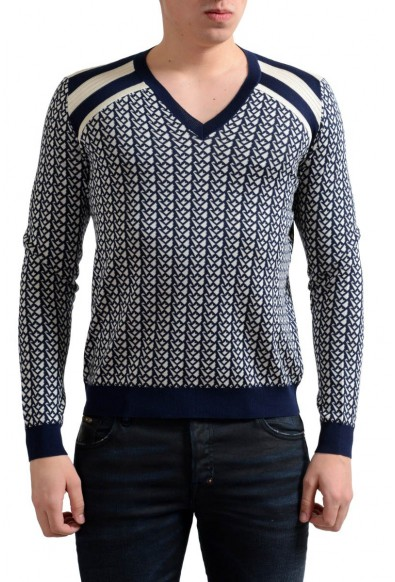 Prada Men's Silk Multi-Color V-Neck Sweater