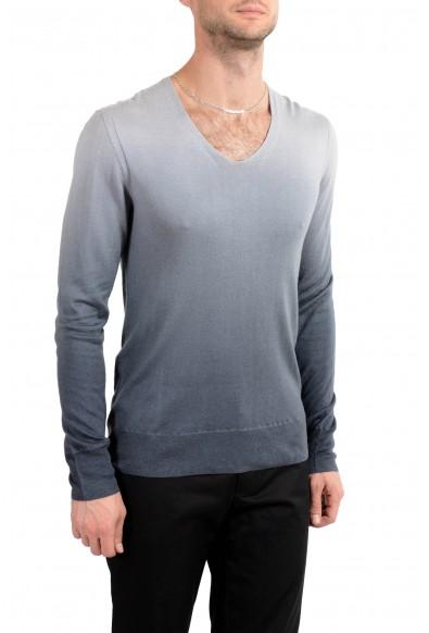 "John Varvatos ""Artisan"" Men's Silk Cashmere Deep V-Neck Two Tones Sweater: Picture 2"