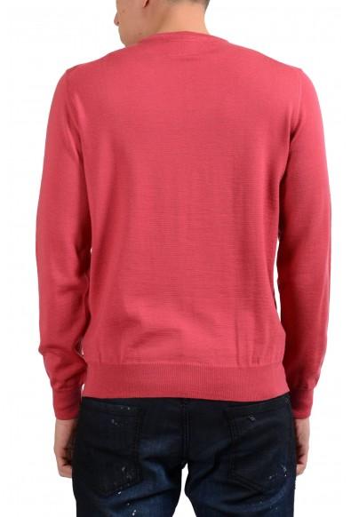 Armani Collezioni Men's Peach Crewneck 100% Wool Sweater: Picture 2