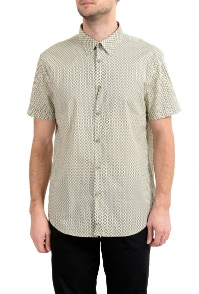 John Varvatos Luxe Multi-Color Short Sleeve Men's Casual Shirt