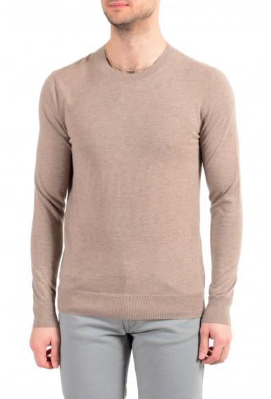 Burberry Men's 100% Cashmere Beige Crewneck Pullover Sweater