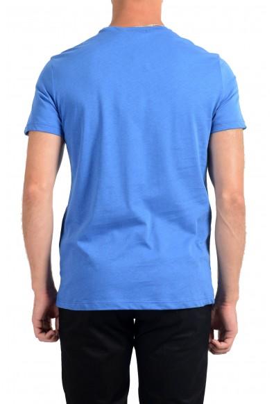Roberto Cavalli Men's Royal Blue Graphic Print Crewneck T-Shirt: Picture 2