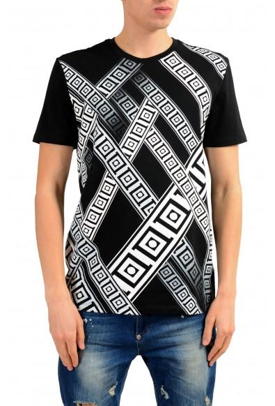 Versace Collection Men's Black Graphic Print T-Shirt
