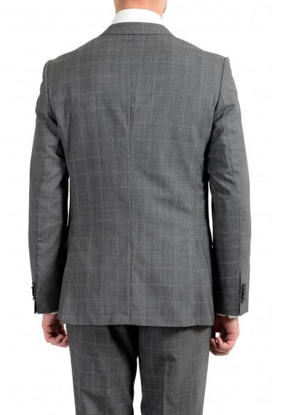 """Hugo Boss """"Novan5/Ben2"""" Men's 100% Wool Gray Plaid Two Button Suit: Picture 2"""
