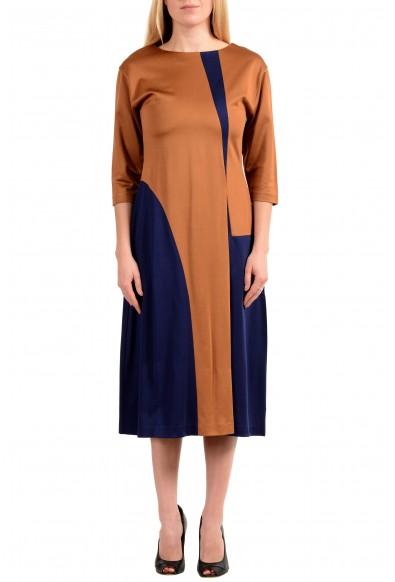 "Hugo Boss Women's ""Ewianna"" Two-Tone 3/4 Sleeve Sheath Dress"
