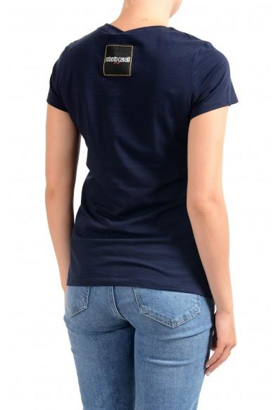 "Roberto Cavalli ""Sport"" Women's Blue Graphic Print Crewneck T-Shirt: Picture 2"