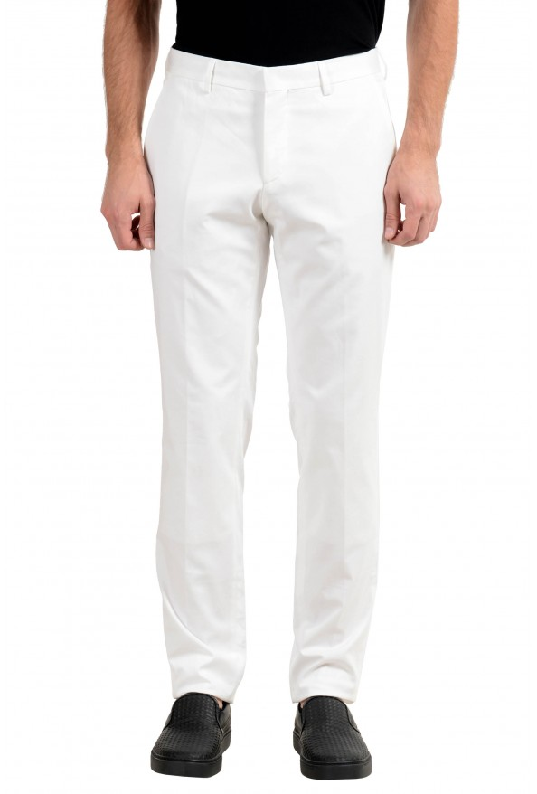 "Hugo Boss ""Genesis2"" Men's White Stretch Casual Pants"