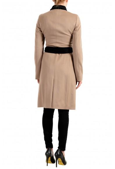 """Hugo Boss Women's """"Cargona"""" Brown 100% Wool Belted Coat: Picture 2"""