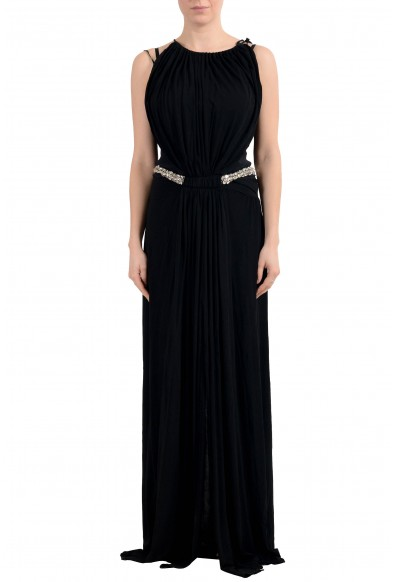 Roberto Cavalli Women's Black Embellished Evening Dress