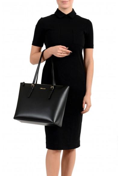 Versace Women's Black Leather Tote Shoulder Handbag Bag: Picture 2