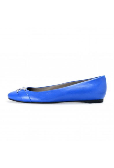 Versace Collection Women's Royal Blue Leather Ballets Flat Shoes: Picture 2