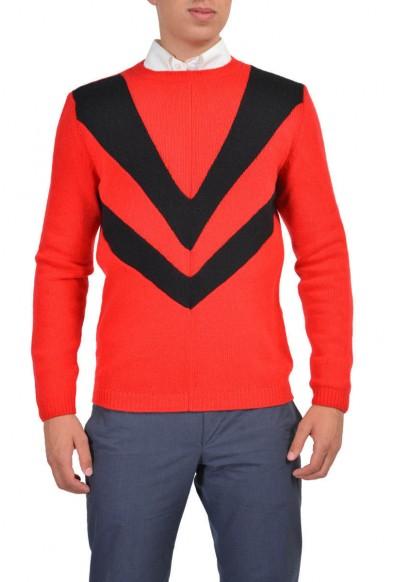 Prada Men's Wool Cashmere Multi-Color Long Sleeve Crewneck Sweater