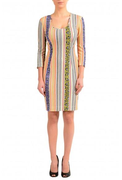 Just Cavalli Multi-Color Stretch Bodycon Women's Dress