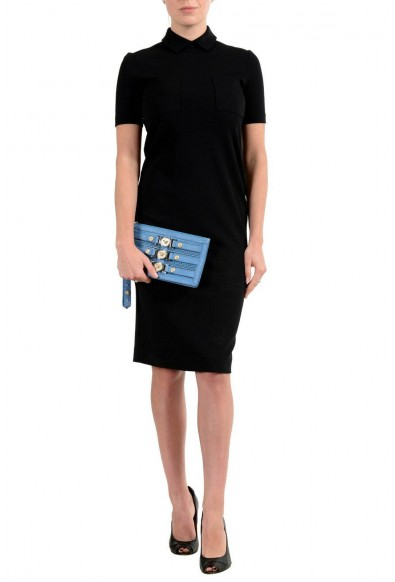 Versace 100% Leather Blue Women's Wristlet Clutch: Picture 2